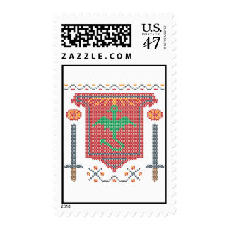 Fire Breathing Dragon Ugly Sweater Design Postage