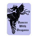 Fire Breathing Dragon Vinyl Magnet