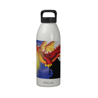 Fire Breathing Dragon Reusable Water Bottles