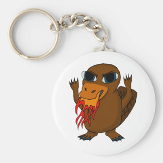 Fire Breathing Platypus Keychain