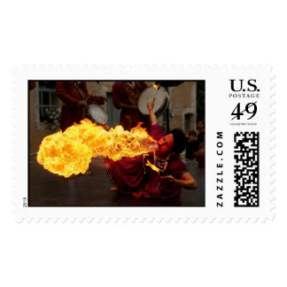 Fire Breathing Postage Stamp