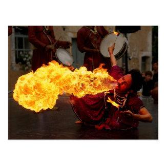 Fire Breathing Postcard