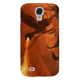 Fire-Breathing Prehistoric Dinosaur by Jake Murray Galaxy S4 Covers