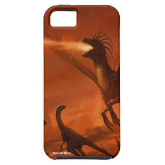 Fire-Breathing Prehistoric Dinosaur by Jake Murray iPhone 5 Case