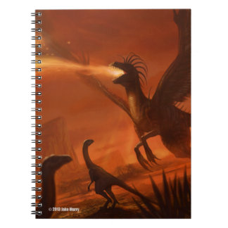 Fire-Breathing Prehistoric Dinosaur by Jake Murray Spiral Note Book