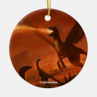 Fire-Breathing Prehistoric Dinosaur by Jake Murray Ornament