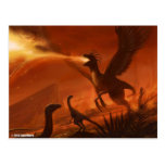 Fire-Breathing Prehistoric Dinosaur by Jake Murray Post Cards