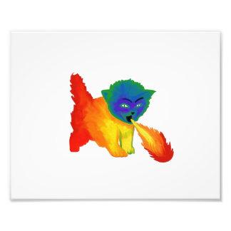 Fire Breathing Rainbow Kitten Photo Print