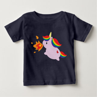 Fire-Breathing Unicorn Baby T-Shirt