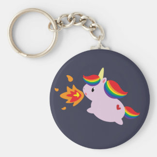 Fire-Breathing Unicorn Keychain