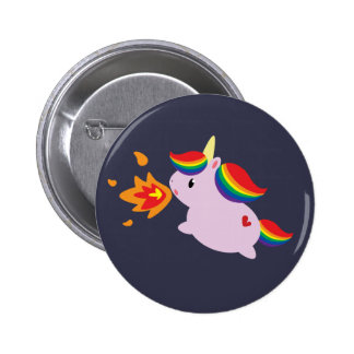 Fire-Breathing Unicorn Pinback Button