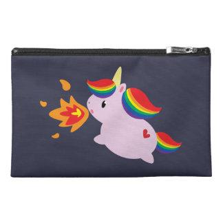 Fire-Breathing Unicorn Travel Accessory Bag