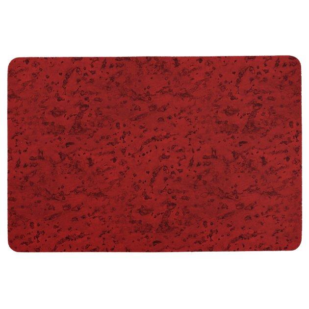 Fire Brick Red Cork Look Wood Grain Floor Mat Zazzle