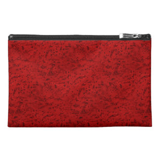 Fire Brick Red Cork Look Wood Grain Travel Accessories Bags