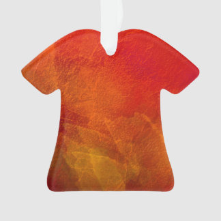 Fire - Bright Orange Red Yellow Abstract Art Ornament