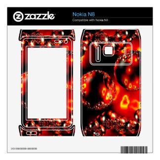 Fire Bubbles Nokia Skin Nokia N8 Decal