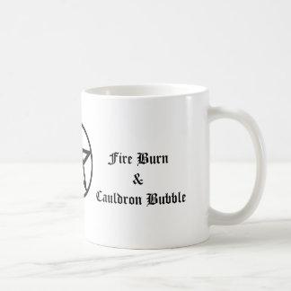 Fire Burn and Cauldron Bubble Tea Coffee Mug