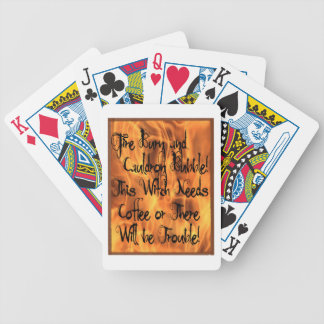 Fire Burn Bicycle Playing Cards