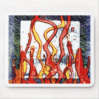 Fire Burn Smoke Abstract Metal Rusty Antique Junk Mouse Pad