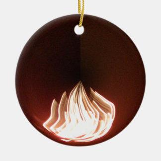 Fire Burning Hakuna Matata in Life.png Ceramic Ornament