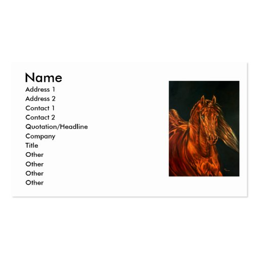 Fire Double-Sided Standard Business Cards (Pack Of 100)
