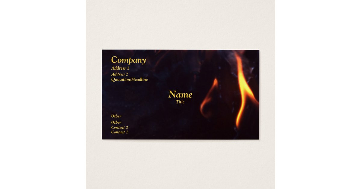 Fire business card zazzle colourmoves