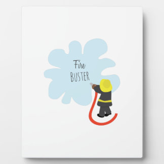 Fire Buster Photo Plaque