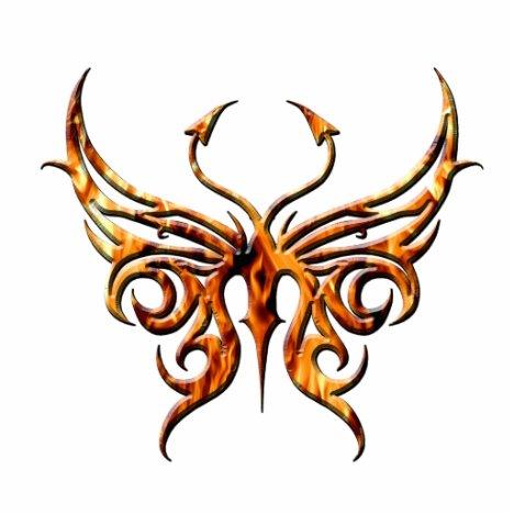 Fire butterfly magnet. statuette