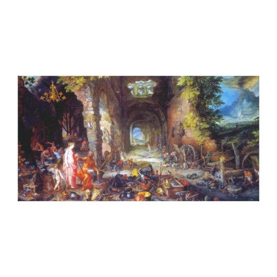 Fire, by Jan Brueghel the Elder Canvas Print