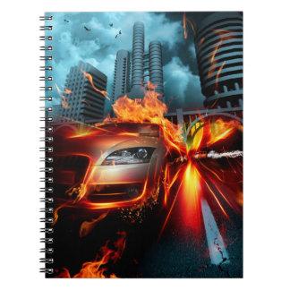 Fire Car Fantasy Notebook