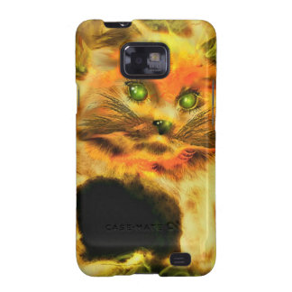 Fire Cat Galaxy S2 Covers
