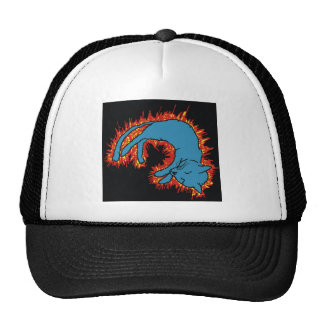 Fire Cat Trucker Hat