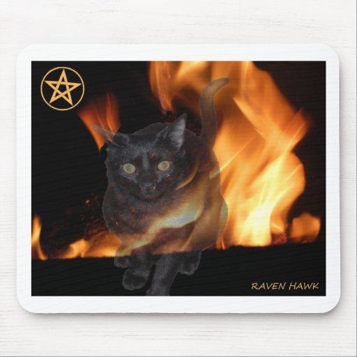 Fire Cat Mousepads