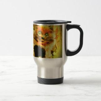 Fire Cat 15 Oz Stainless Steel Travel Mug