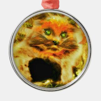 Fire Cat Ornament