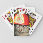 "Fire-Cat Playing Cards<br><div class=""desc"">I love animals. I love Kookers. Kookers dreams of being a Fire-Cat,  even though I told her they prefer dogs.</div>"