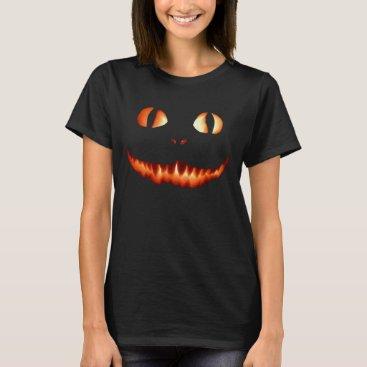 Halloween Themed Fire Cat Women T-Shirt