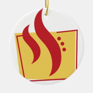 Fire Ceramic Ornament