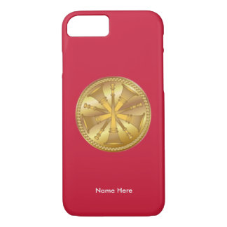 Fire Chief 5 Bugle Medallion iPhone Case