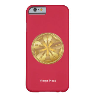 Fire Chief 5 Bugle Medallion iPhone Case Barely There iPhone 6 Case
