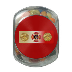 Fire Chief 5 Trumpet Jelly Belly Candy Jar at Zazzle