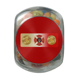 Fire Chief 5 Trumpet Jelly Belly Candy Jar