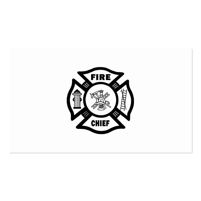 Fire Chief Business Card Templates