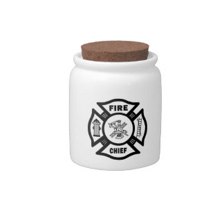 Fire Chief Candy Jars