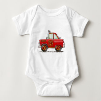 Fire Chief Car Firefighter Fireman Infant Creeper
