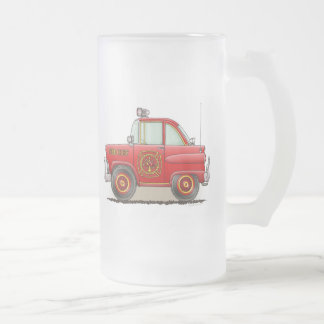 Fire Chief Car Frosted Glass Mug
