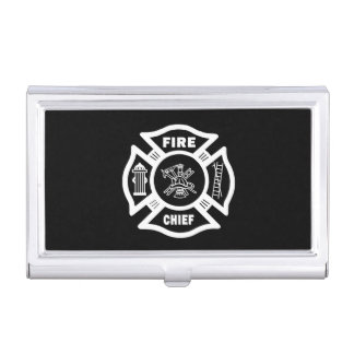 Fire Chief Case For Business Cards
