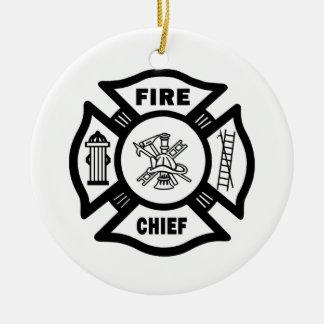 Fire Chief Ceramic Ornament