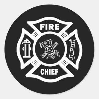 Fire Chief Classic Round Sticker