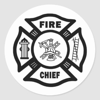 Fire Chief Classic Round Sticker